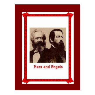 Cartão Postal Pessoas, Marx e Engels famosos