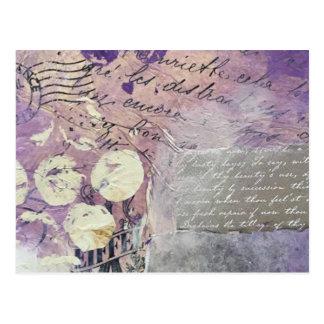 Cartão Postal Pétalas violetas - coleção