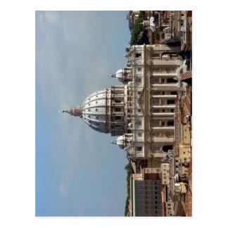 Cartão Postal Petersdom na ROM, gesehen o der Engelsburg de Dach