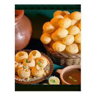 Cartão Postal Petisco indiano da culinária de GOLE GAPPAY Panni