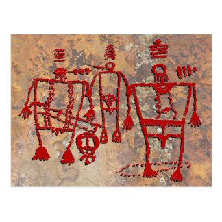 Cartão Postal Petroglyph cerimonial dos dançarinos