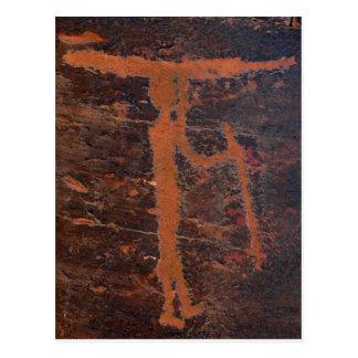 Cartão Postal Petroglyph do caiaque