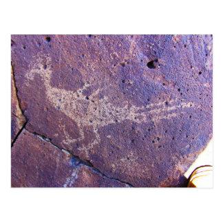 Cartão Postal Petroglyph do cuco terrestre australiano