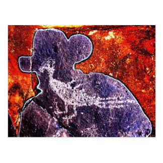 Cartão Postal Petroglyph do cuco terrestre australiano e um