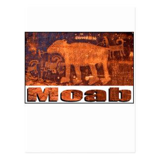 Cartão Postal Petroglyph do urso de Moab