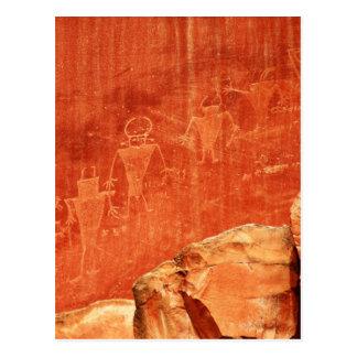 Cartão Postal Petroglyphs do recife do Capitólio