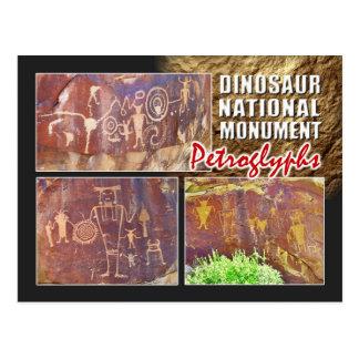 Cartão Postal Petroglyphs, monumento nacional do dinossauro, Utá
