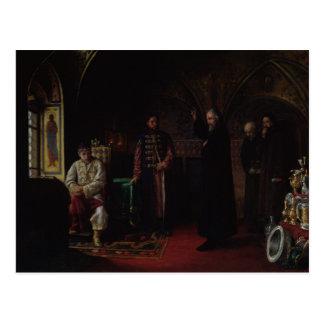 Cartão Postal Philip metropolitano de Moscovo com Tsar Ivan