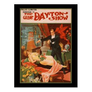Cartão Postal Phllips Climation a grande mostra de Dayton