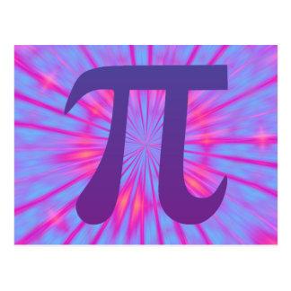 Cartão Postal Pi no roxo