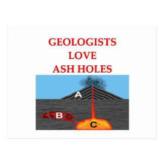 Cartão Postal piada da geologia