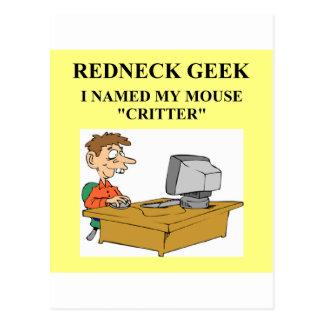 Cartão Postal piada do geek do computador
