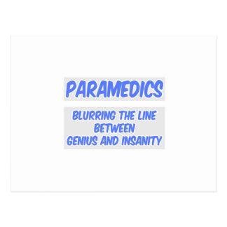 Cartão Postal Piada do paramédico. Gênio e demência