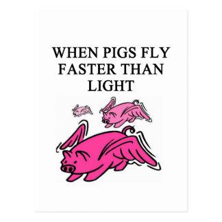 Cartão Postal piada engraçada da física