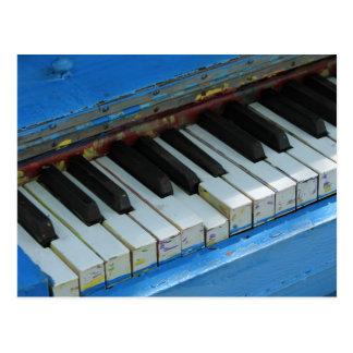 Cartão Postal Piano azul