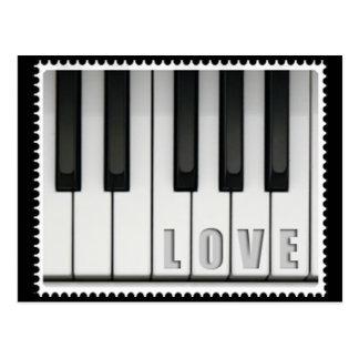 Cartão Postal Piano do amor