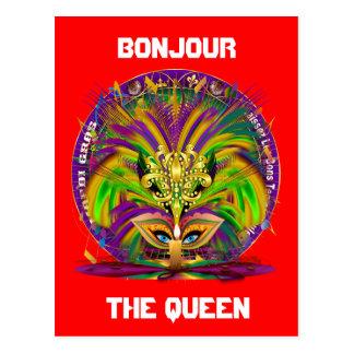 Cartão Postal Picareta combinado do bloco do partido do carnaval