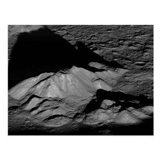 Cartão Postal Pico da central da cratera de Tycho da lua da