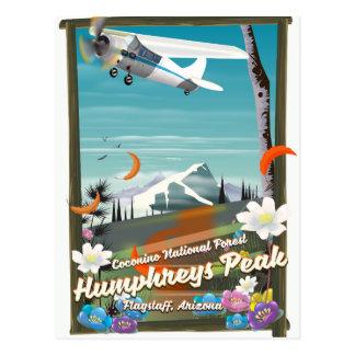 Cartão Postal Pico de Humphreys, pico de Humphreys, mastro,