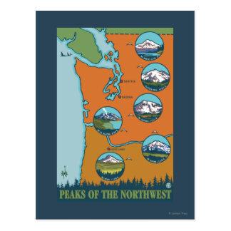 Cartão Postal Picos do noroeste - 5 montanhas diferentes