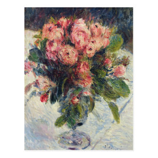 Cartão Postal Pierre Musgo-Rosas de Renoir um |