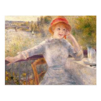 Cartão Postal Pierre um Renoir | A. Fournaise no Grenouillere