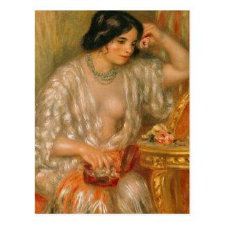 Cartão Postal Pierre um Renoir | Gabrielle com jóia