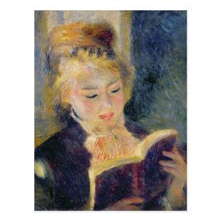 Cartão Postal Pierre uma leitura da menina de Renoir |
