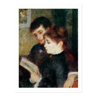 Cartão Postal Pierre uma leitura do casal de Renoir |