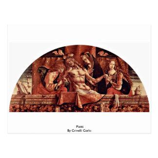 Cartão Postal Pietà por Crivelli Carlo