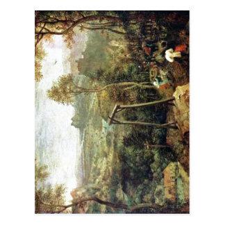 Cartão Postal Pieter sumário Bruegel a pessoa idosa: O Magpie no