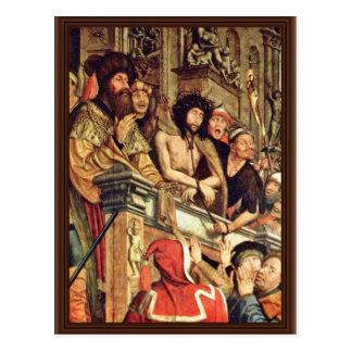 Cartão Postal Pilate mostra o cristo às pessoas por Massys