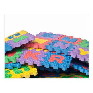 Cartão Postal Pilha de blocos do alfabeto