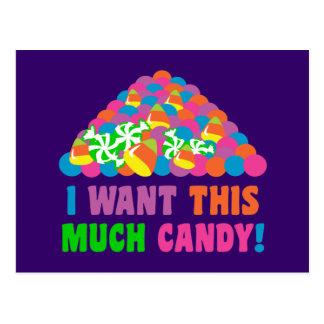 Cartão Postal Pilha de doces do Dia das Bruxas