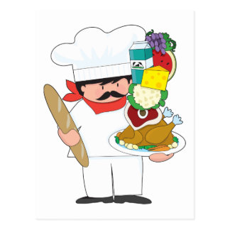Cartão Postal Pilha do cozinheiro chefe