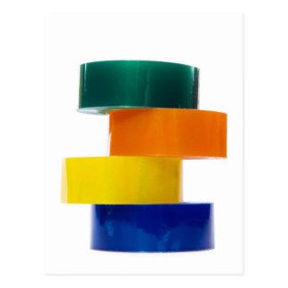 Cartão Postal pilha do sellotape do colourfull