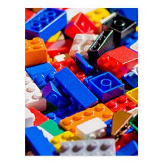 Cartão Postal Pilha do tijolo do brinquedo de Coloful