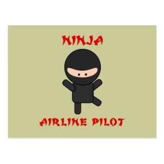 Cartão Postal piloto da linha aérea do ninja