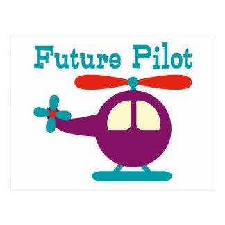 Cartão Postal Piloto futuro