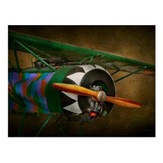 Cartão Postal Piloto - plano - WW1 lutador alemão - Fokker D