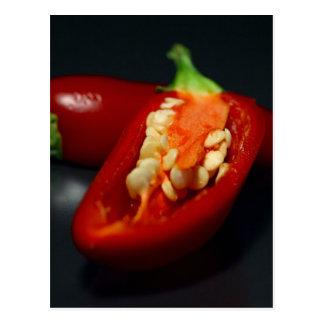 Cartão Postal pimentão-sementes, ainda-vida
