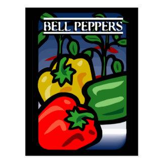 Cartão Postal Pimentas de Bell