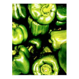 Cartão Postal Pimentas de Bell verdes