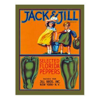 Cartão Postal Pimentas de Jack & de Jill Florida