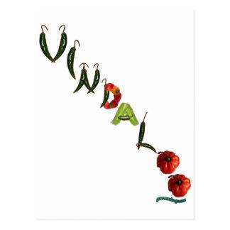 Cartão Postal Pimentas de pimentão de Vindaloo