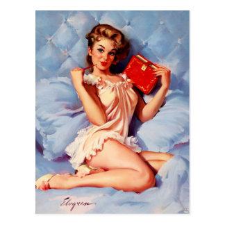 Cartão Postal Pin secreto de Gil Elvgren do diário do vintage