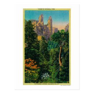 Cartão Postal Pináculos da catedral e vale de Yosemite