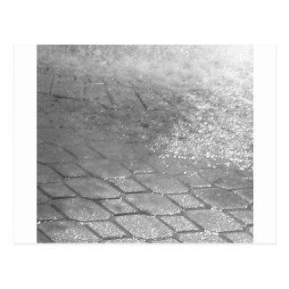 Cartão Postal Pingos de chuva preto e branco