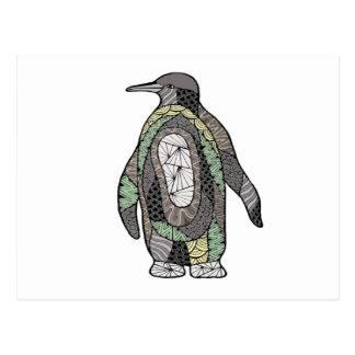 Cartão Postal Pinguim