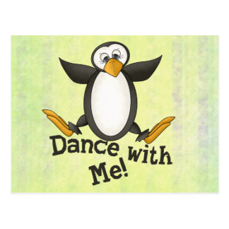 Cartão Postal Pinguim da dança